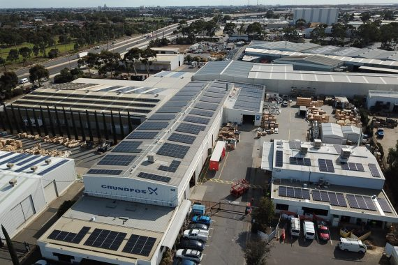 350kW solar venergy project for Grundfos
